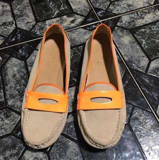 Nude Suede Loafers by BE ME