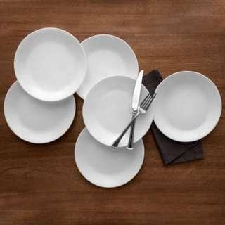 CORELLE 6pc dinnerplates winter frost design