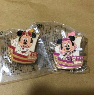 日本 迪士尼 徽章 TOKYO DISNEY PIN GAME PIN MICKY MINNIE 船