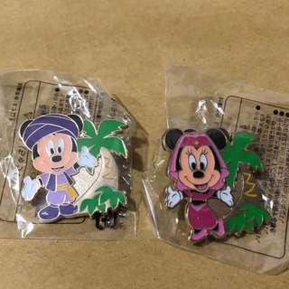 日本 迪士尼 徽章 TOKYO DISNEY PIN GAME PIN MICKY MINNIE 樹