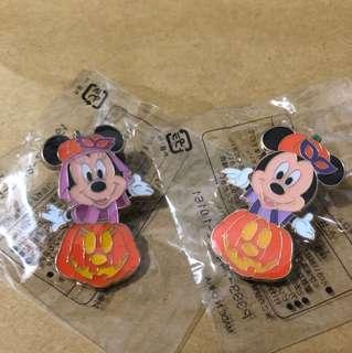 日本 迪士尼 徽章 TOKYO DISNEY PIN GAME PIN MICKY MINNIE  萬聖節