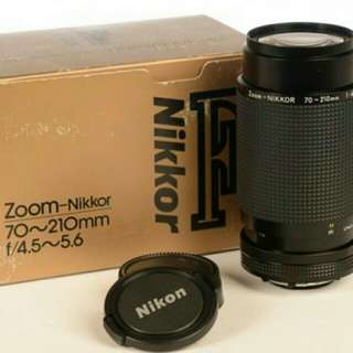 Nikon Lens 70-210mm f/4.5-5.6 AiS MF