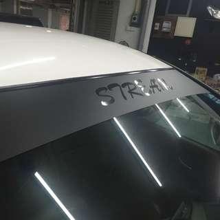 Honda stream sunshade sticker available!!