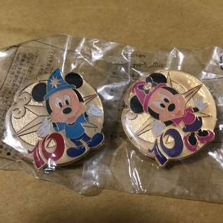 日本 迪士尼 徽章 TOKYO DISNEY PIN GAME PIN MICKY MINNIE  10週年
