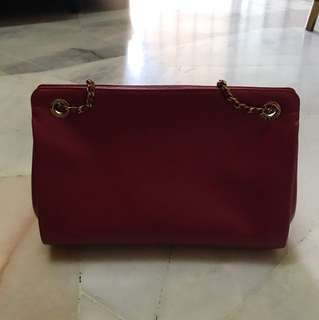 Charles&keith red dinner bag