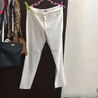 white velvet pants