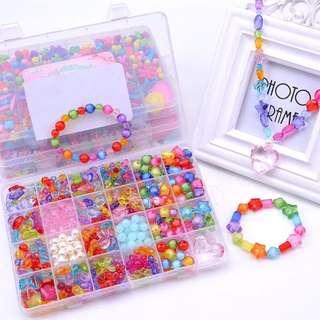 Jewel theme - DIY necklace bracelet beads