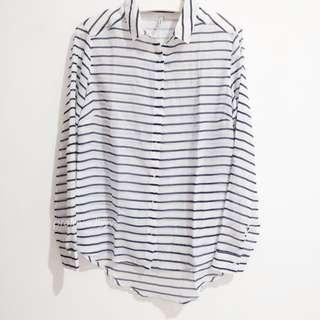 Stradivarius stripe shirt