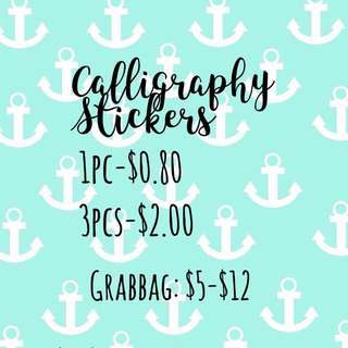 Calligraphy Stickers
