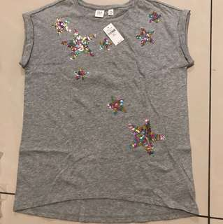 Brand new GAP shinning star T-shirt