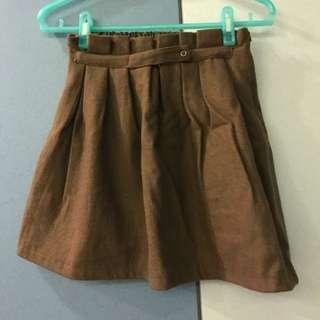 🚚 棕色百褶短裙