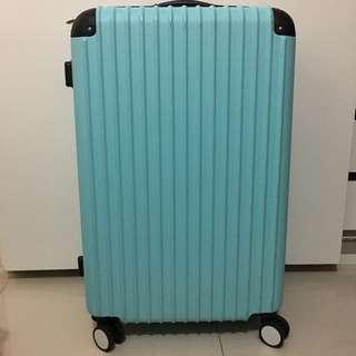 淺藍色26吋行李箱