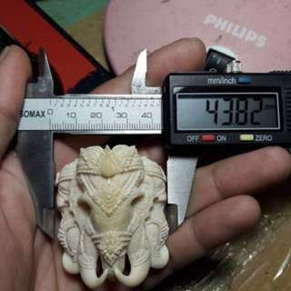 Elephant head for amulet necklace