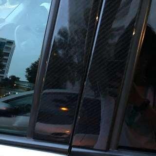 Honda vezel hrv Carbon fibre exterior door pillar