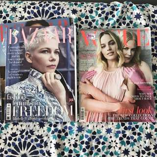 British Vogue & Harper's Bazaar Feb 2018