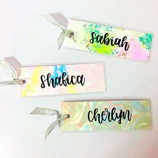 Customisable Bookmarks Bookmark Bag Gifts Tag Tags kid Door Gift Personalised Customised Boy Girl Girls Boys Kids Birthday Goodie Placecard Wedding Children Place cards Day Calligraphy Classmates Party School Friend Friends Classmate Students student