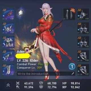 (+28) Aden Elder Lineage 2 Revolution Account