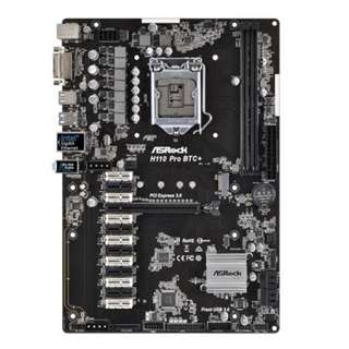 ASRock h110 pro btc+ mining motherboard 13GPU