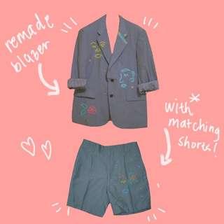 Remade Thrifts (2 piece Blazer & Matching Shorts)