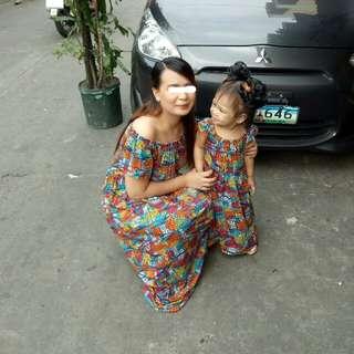 Matchy matchy boho maxi dress
