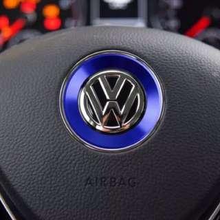 Volkswagen steering emblem sticker