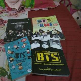 1buku Bangtanpedia, 1buku BTS Up Close & Personal By Blood Type, 1buku  BTS Salah Gaul, 1buku Unofficial Book BTS
