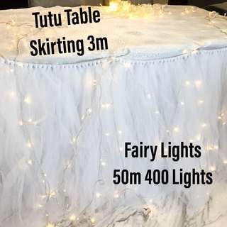 Tutu Table Skirting for Rental