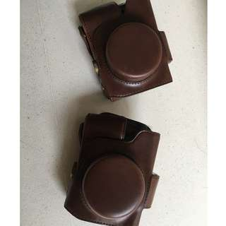 Leather Camera Bag Case for Olympus OM-D EM10 E-M10 with 14-42mm EZ Lens