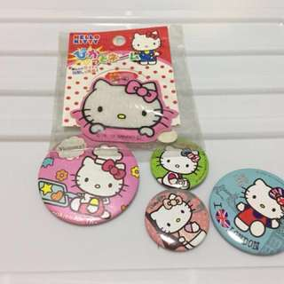 10pcs Hello Kitty Pins and a Keychain