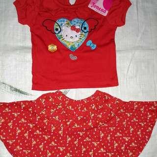 Baju setelan anak cewek dan dress import murah
