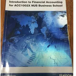 Introduction to Financial Accounting for ACC1002X NUS Business School (Pearson)
