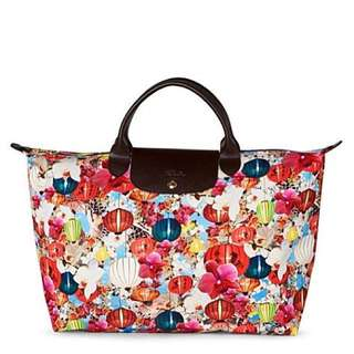 💯正貨! 限量版Mary Katrantzou x Longchamp Travel bag lv