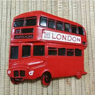 Magnet Kulkas Besi Bus London