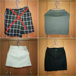Clearance Sale! Denim and Cotton Skirts