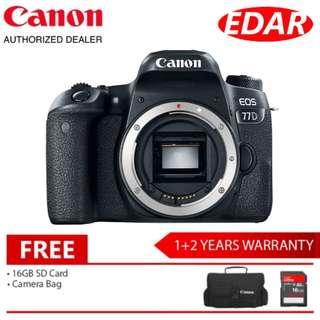 CANON EOS 77D BODY ONLY (Original Set & Official Canon Malaysia)