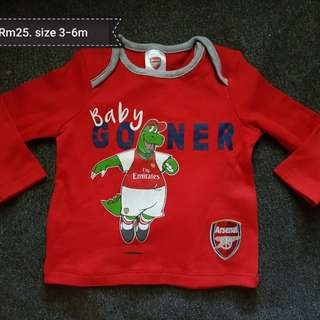 Arsenal baby shirt