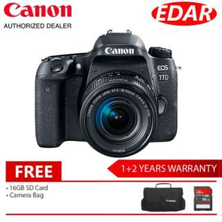 Canon EOS 77D WITH EF-S 18-55MM IS STM (Original Set & Official Canon Malaysia)