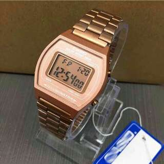 Casio retro rose gold