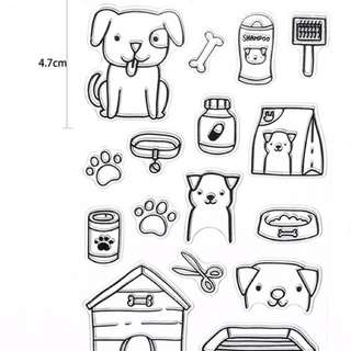 Clear stamps (puppies)
