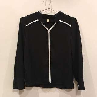 [全新]✨黑色雪紡紗上衣