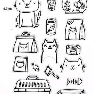Clear stamps ( cat lovers)