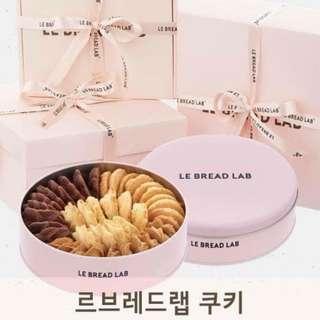 韓國LE BREAD LAB 夢幻粉紅手工曲奇餅禮盒 Korea LE BREAD LAB dream pink handmade cookie gift box