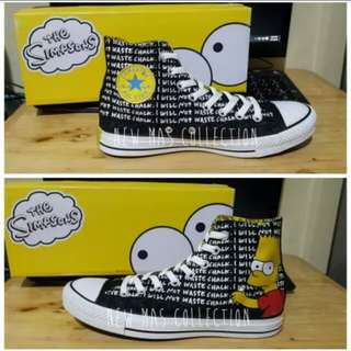 """CONVERSE ALL STAR CHUCK TAYLOR HIGH THE SIMPSONS """"CHALK"""""""