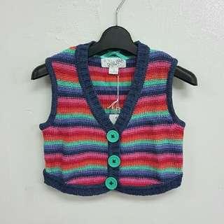 👧 (包郵) Fall/Winter Girl's Knitted Vest (Fit for 7yrs old) 女童裝冷背心 (適合7歲)