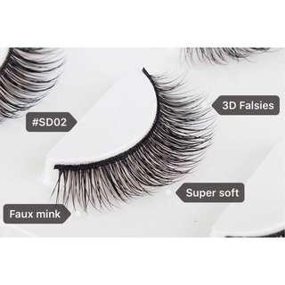 3D Faux Mink Eyelashes (#SD02 CS)
