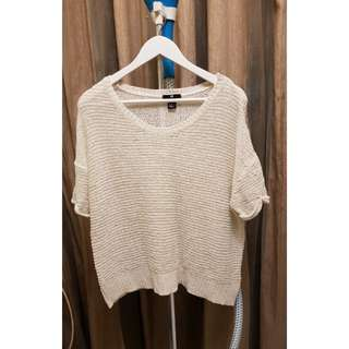 H&M Knit Top in Off White
