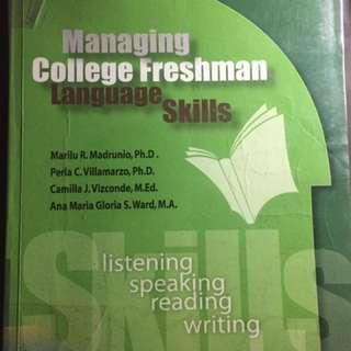 Managing College Freshman Language Skills
