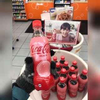 (全新) 日本人氣 蜜桃可樂 Peach Coca Cola
