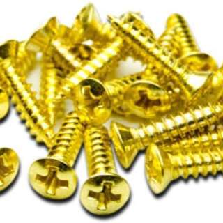 Gold pickguard screws