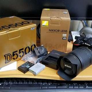 Nikon D5500 數碼單鏡反光機連原裝鏡頭